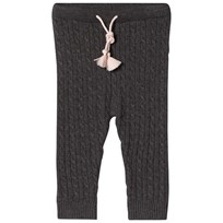 Cyrillus Dark Grey Cable Knit Leggings 6433