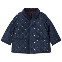 Cyrillus Navy Spot Quilted Jacket 6396