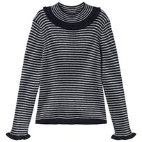 Cyrillus Navy and Cream Stripe Jumper 6398
