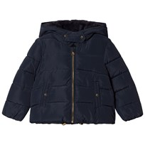 Cyrillus Navy Hooded Coat 6399