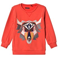 IKKS Orange Moose Applique Sweatshirt 76