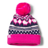 Tom Joule Pink and Navy Fairisle Bobble Hat FAIRISLE