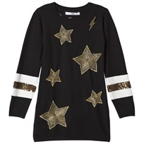 Relish Black Star Embroidered Knit Dress 1000
