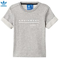 adidas Originals Grey Equipment T-Shirt MEDIUM GREY HEATHER
