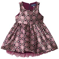 Andy & Evan Pink Maroon Sleeveless Brocade Party Dress PRC PRC