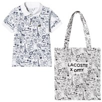 Lacoste White Animation Print Polo BED