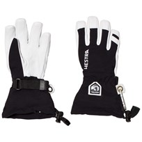 Hestra Army Leather Heli Ski Jr. 5 Finger Black Black