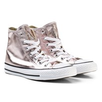Converse Pink Junior Chuck Taylor All Star Hi Rose Quartz/White