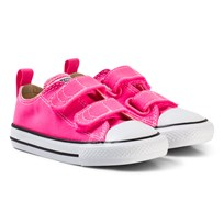 Converse Pink and White Infants Chuck Taylor All Star 2V - OX Pink/White