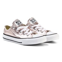 Converse Pink Kids Chuck Taylor All Star Metallic - OX Rose Quartz/White