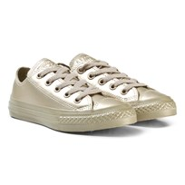 Converse Gold Kids Chuck Taylor All Star Metallic Leather - OX Gold