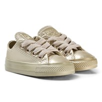 Converse Gold Infants Chuck Taylor All Star Metallic Leather - OX Gold