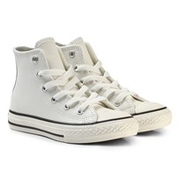 Converse White and Black Kids Chuck Taylor All Star - Hi Egret/Black