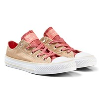 Converse Gold Kids Chuck Taylor All Star - OX Gold/Pink & White