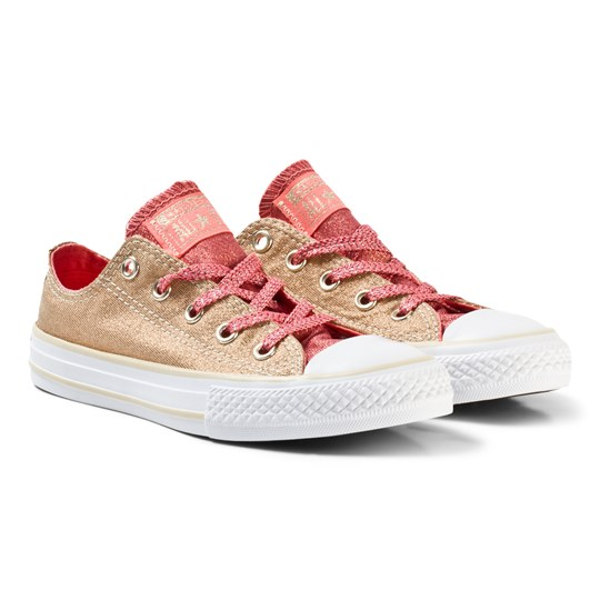 Converse Chuck Taylor All Star Shine and Shimmer Low Top Gold Gold/Pink & White