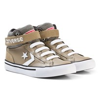 Converse Khaki and White Kids Pro Blaze Strap - Hi Khaki/White