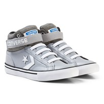 Converse Grey and White Kids Pro Blaze Stripe - Hi Grey/White