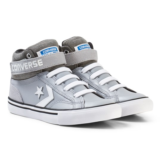 Converse Chuck Taylor All Star Street Leather and Fleece Mid Grey Grey/White