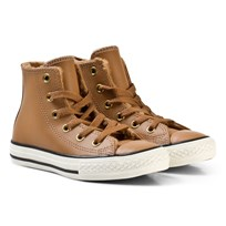 Converse Brown and White Kids Chuck Taylor All Star - Hi Raw Sugar/Egret