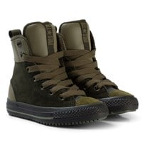Converse Beige and Black Kids Chuck Taylor All Star Asphalt Boot - Hi Sequoia/Olive