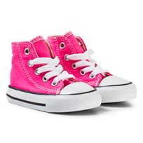Converse Pink and White Infants Chuck Taylor All Star - Hi Pink/White