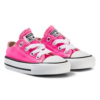 Converse Pink and White Infants Chuck Taylor All Star - OX Pink/White