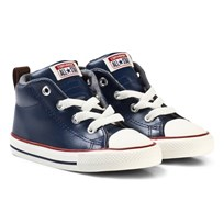 Converse Navy and White Infants Chuck Taylor All Star Street - Mid Navy/White