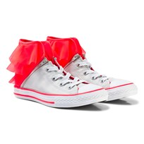 Converse Silver and Pink Kids Chuck Taylor All Star Block Party Silver/Pink