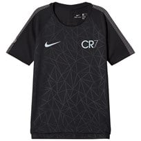 NIKE Black CR7 Dry Squad Tee BLACK/BLUE TINT/LT ARMORY BLUE
