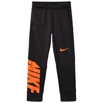 NIKE Black Sportswear Therma Sweatpants BLACK/HYPER CRIMSON