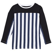 The BRAND Stripe LS Tee Blue/Stripe Black Blue