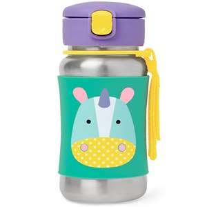 Image of Skip Hop Zoo Stainless Steel Little Kid Straw Bottle Unicorn (3125343971)