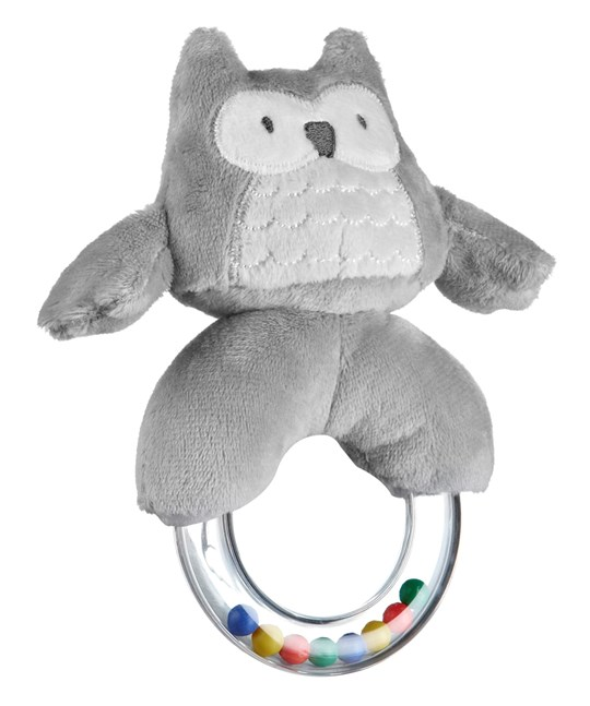 Kids Concept Rattle Ring Grey Harmaa