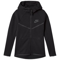 NIKE Black Sportswear Tech Fleece Full Zip Hoodie BLACK/BLACK/ANTHRACITE