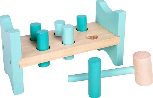 STOY Wooden Pounding Bench Mint Green