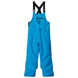 Image of Volcom Blue Button Insulated Ski Overalls L (12 years) (2994537199)