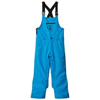Volcom Blue Button Insulated Ski Overalls Blu