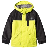 Volcom Yellow Colour Block Insulated Ski Jacket LIM