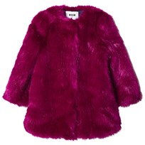 MSGM Fuchsia Faux Fur Coat 044