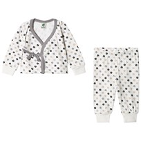 Småfolk Light Cream Apple Print Newborn Set Cream-199