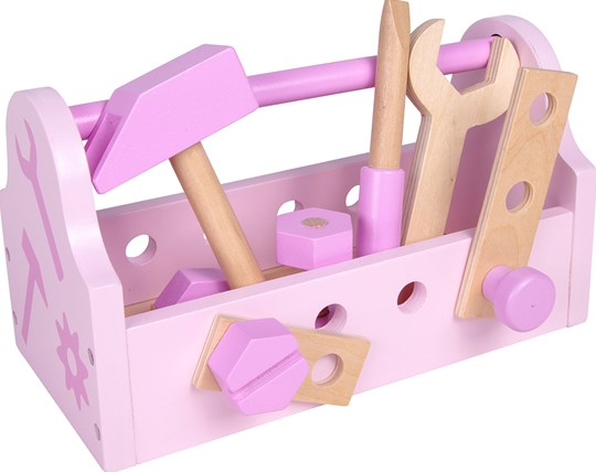 STOY Wood Tool Box Pink Pink