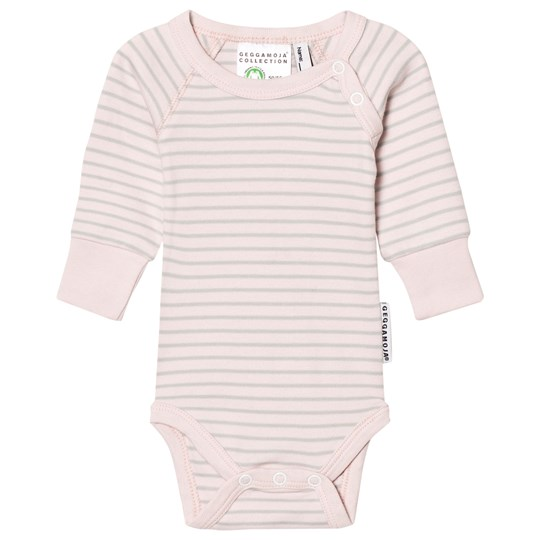 Geggamoja - Baby Body Pink/Light Grey - Babyshop com