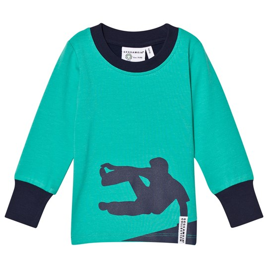 Geggamoja Parcour Sweater Green Turqouise Greenturq