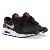 NIKE Black and Gold Nike Air Max Zero Essential Junior Trainers BLACK/METALLIC GOLD-WHITE-TEA BERRY