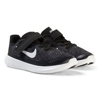 NIKE Black Nike Free Run 2017 Kids Trainers BLACK/WHITE-DARK GREY-ANTHRACITE