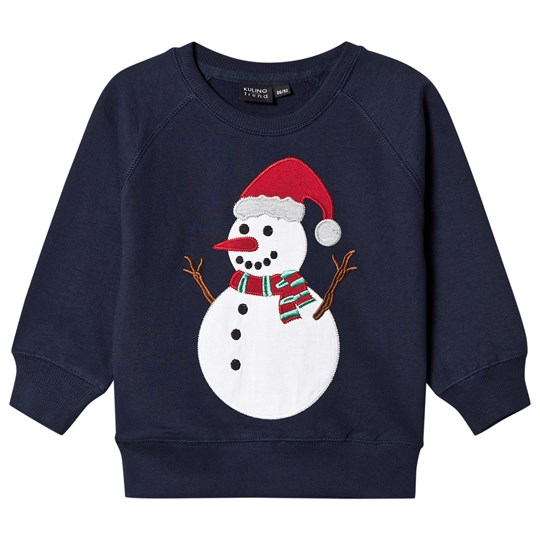 Kuling Christmas Snowman Jumper Navy Blue