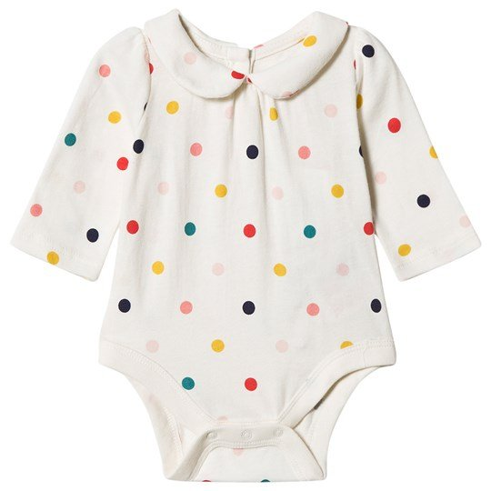 GAP Dotty Peter Pan Baby Body IVORY FROST