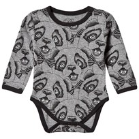 Petit by Sofie Schnoor Body Long Sleeve Panda Print Grey