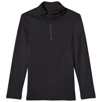 Fusalp Black Half Zip Gemini Junior Ski Fleece 010 Noir
