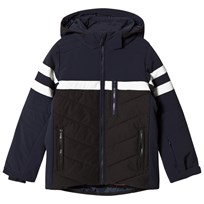 Fusalp Navy and Black Front Criterium Ski Hooded Jacket 629 Dark Blue